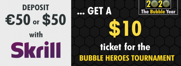 JOIN THE BUBBLE FRENZY, WITH SKRILL IT'S FREE